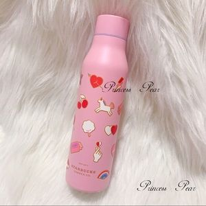 STARBUCKS Pink Valentines Icon Water Bottle